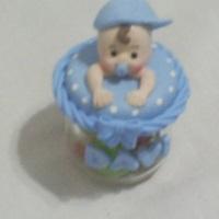 mini potinho com bebê na tampa