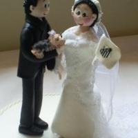 noivinhos para topo de bolo