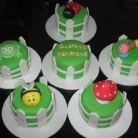Mini-bolos bichinhos