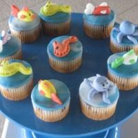 Cupcakes fundo do mar