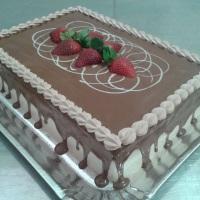 Bolo Morango Com Chocolate