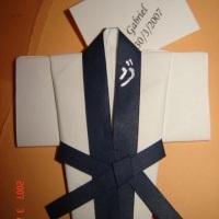 Mini-kimono em origami - Lembrancinha de nascimento ou de aniversário