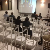 Cadeiras tiffany na inauguração do Ministério Público