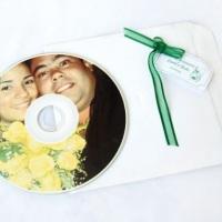 cds personalizados p convite ou lembrança ..pode ser com trilha sonora e tb em forma de relogio...
