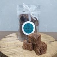 Bordinhas de brownie. 170g. Sabores: tradicional, paçoca, tradicional com nozes, red velvet, oreo, c
