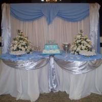 Mesa do Bolo - Decoração Azul Claro