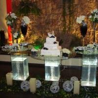 mesa de vidro (bolo)