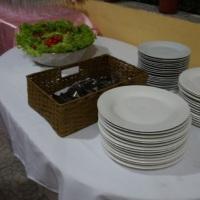 Locação de materiais/toalhas de mesa/vasos etc...