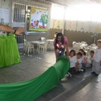 recreação da festa escolar
