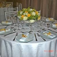 mesa preparada para cardápio coquetel evento debutante clube Sirio libanes