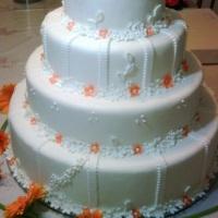 bolo de casamento laranja