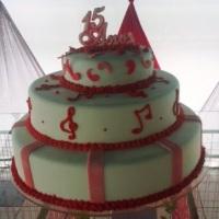 bolo de 15 anos pink