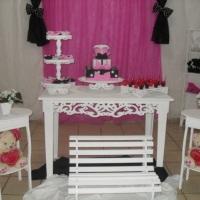 festa prto rosa e branco