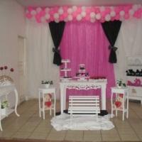 festa preto rosa e branco