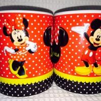 Caneca personalizada de aniversário Mickey e Minnie