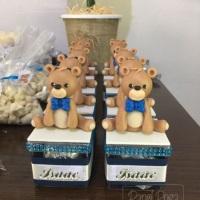 Personalizados de luxo - chá de fraldas tema ursinho