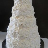 Bolo de casamento todo em glacê real