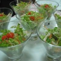 Saladinhas para entrada de coquetel