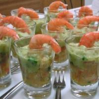 Creme de camarão com guacamole