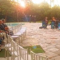 Trio de cordas em casamento ao ar livre. Porto Alegre, RS