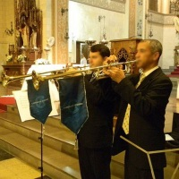 Trompetes para anunciar a noiva. Porto Alegre, RS