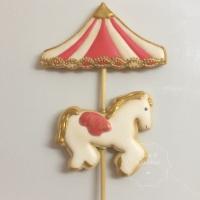 Biscoitos Decorados - Topo de bolo Carrossel