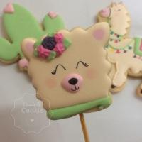 Biscoitos Decorados - Lhamas e Cactos