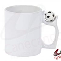 Caneca de porcelana com bolinha futebol