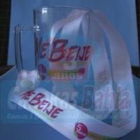 Tirante/cordão em cetim p/ pendurar caneca - personalizado. Loja virtual: www.canecasbahia.com.br