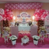 Festa decorada chá de bebê