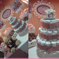 Festa decorada ( bolo de frauldas)