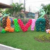 escultura de balões entrada de salão