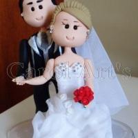 Casal de noivinhos, estilo fofinho, e personalizados do seu jeito!