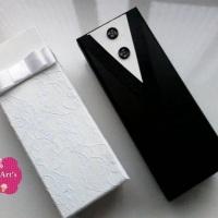 Caixas mdf decorada para padrinhos, modelo mini Chandon