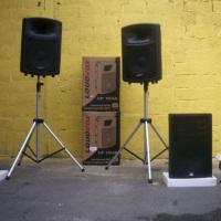 Caixa de som amplificadas para locação