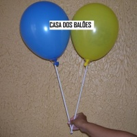 Varetas pega balão modelo argola e copinho. Pacote com 10 unidades ou atacado mínimo de 1000 unidade