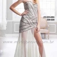 Vestido mãe do noivo , bodas de prata com fenda frontal bem generosa (11) 2235.0268