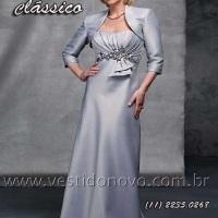 Vestido mãe do noivo , bodas de prata em cetim importado com bolero manga longa