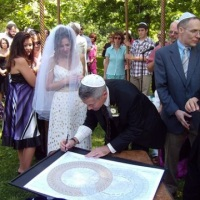 Assinatura do Ketubah - Certificado de Casamento