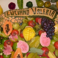 mesa de frutas decorada