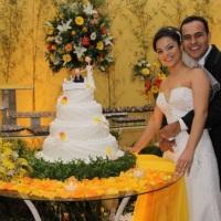 No Cerimonial de Casamento de Daniel e Isabel no Espaço 277