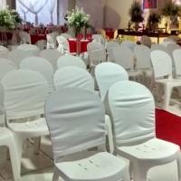 Decoração de cadeiras dos formandos