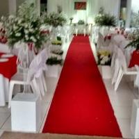 Decoração interna do espaço para o casamento