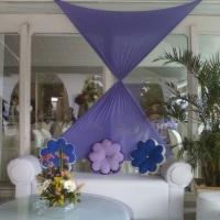 lounge,decorado com lycra