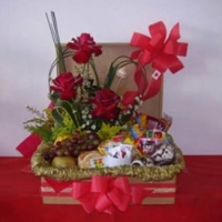 Baú com flores R$112,00