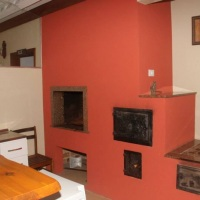 Salão de Festas - Churrasqueira e forno e fogão à lenha