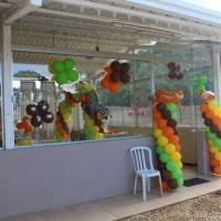 Salão de Festas em dia de evento - Aniversário infantil.