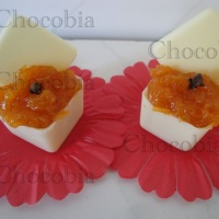 Doce de Abobora com copinho de Chocolate
