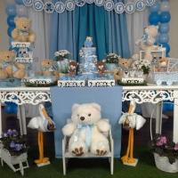 Decoração dos Ursinhos Azul e Branco