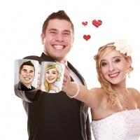 Caneca de Cerâmica para noivos e padrinhos